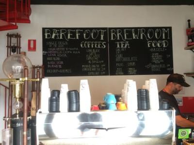 Best cafe Barefoot Brew Room in australia for 2016